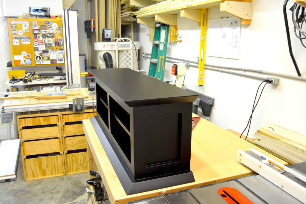 top of modern cabinet