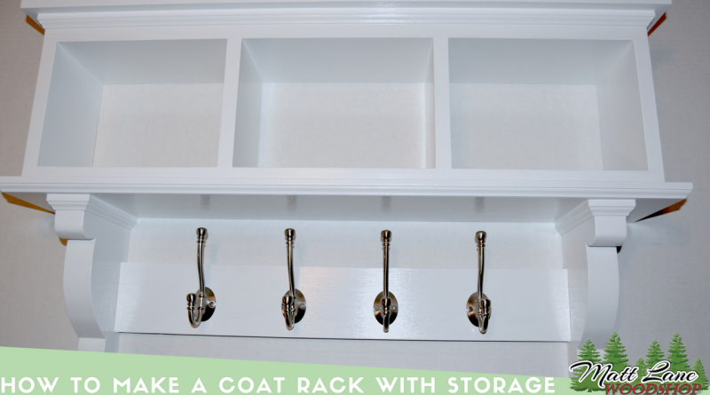 How to Make a Coat Rack (With Storage)