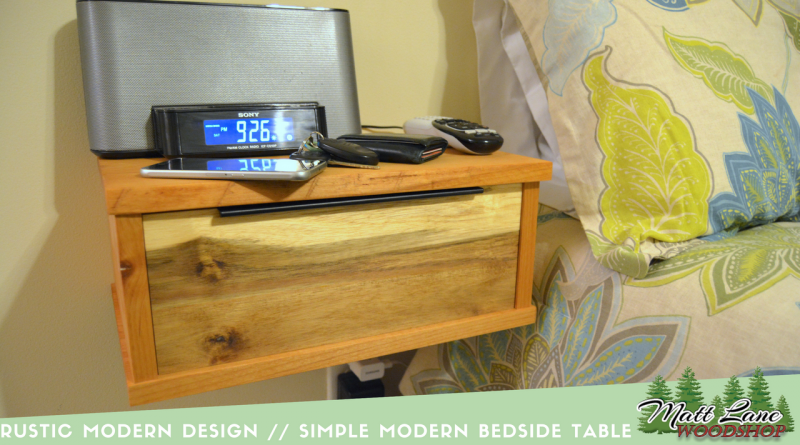 Rustic Modern Design // Simple Floating Bedside Table
