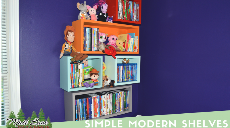 Simple Modern Shelves