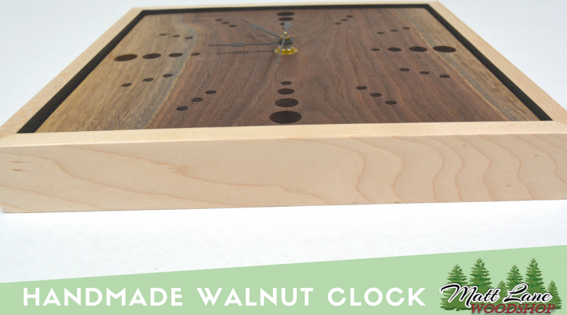 handmade walnut clock